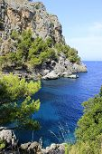 Cape in the Mediterranean Sea on Mallorca, Spain
