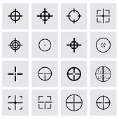 Vector crosshair icon set