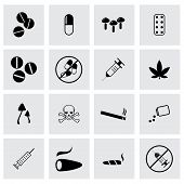 Vector drugs icon set