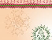Green and pink Indian Ganesha design