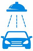 Isolated Blue Car Wash Icon
