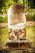 Old, Broken Tombstone
