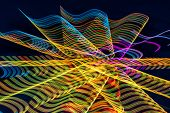 Abstract Neon Lines on Black