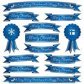Blue Christmas Ribbons