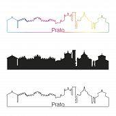 Prato Skyline Linear Style With Rainbow