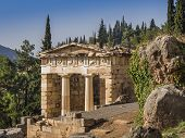 Treasury of Delphi, Greece