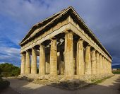 picture of akropolis  - The Temple of Hephaistos in Athens - JPG