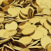 Golden coins background