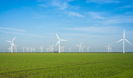 picture of windmills  - Onshore windmill power plant in northern Germany - JPG