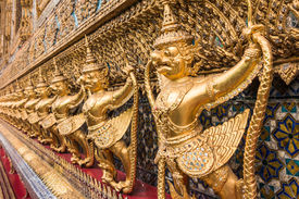 foto of garuda  - Golden Garuda of Wat Phra Kaew at Bangkok thailand - JPG