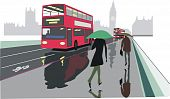 London red bus illustration