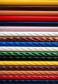 picture of ceramic tile  - colorful strips of ceramic tile samples - JPG