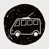 image of tram  - Doodle Tram - JPG