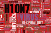 stock photo of avian flu  - H10N7 Concept as a Medical Research Topic - JPG