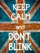 picture of blinking  - Keep Calm and Don