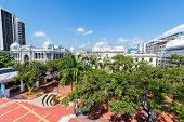 image of guayaquil  - Tree filled plaza in downtown Guayaquil Ecuador - JPG