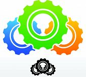 image of rework  - Eps 10 Vector Illustration of Gears Composition - JPG