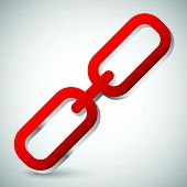 stock photo of chains  - Eps 10 vector illustration of Chain link icon - JPG