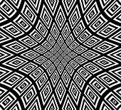picture of distort  - Eps 10 Vector Illustration of Square pattern with hollow distortion - JPG