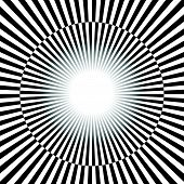 Постер, плакат: Black And White Rays Starburst Background With Alternating Checkered Colors