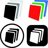 picture of dtp  - Eps 10 Vector Illustration of Stack sheets of paper icon  - JPG