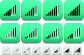 picture of indications  - Eps 10 Vector Illustration of Signal Strength Indicator icons - JPG