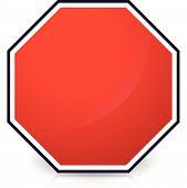 pic of octagon shape  - Blank stop sign Eps 10 Vector Illustration - JPG