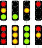 stock photo of traffic light  - Eps 10 Vector Illustration of Traffic Light  - JPG