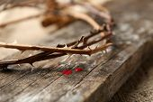 picture of crown-of-thorns  - Crown of thorns with blood - JPG