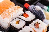 Постер, плакат: Assorted Sushi Rolls
