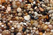 Polished pebbles poster
