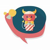 image of wizard  - Cute Wizard Flat Icon With Long Shadow - JPG