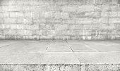 stock photo of stone floor  - Wall made of concrete and floor from stone - JPG