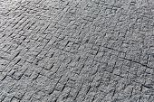 picture of granite  - Street view of square tile granite pavement - JPG