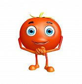 image of promises  - 3D Illustration of Tomato character with promise pose - JPG