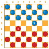 image of draught-board  - a set of checkers classic game in vectorial - JPG