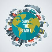 image of save earth  - Creative concept Save the Planet - JPG