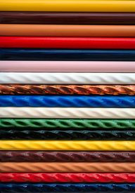 stock photo of ceramic tile  - colorful strips of ceramic tile samples - JPG