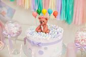 stock photo of ombres  - candy bar in pastel colors for children - JPG