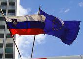 Flags - Slovenia And Eu