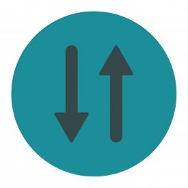 picture of primite  - Arrows Exchange Vertical icon from Primitive Round Buttons OverColor Set - JPG