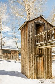foto of outhouse  - Two - JPG