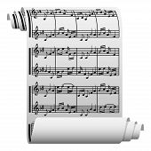 Music written on paper
