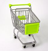 Fluorescent Yellow Shopping Trolley