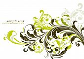grunge floral background decorativo
