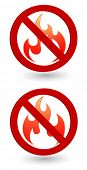 flame forbidden sign