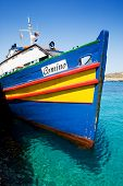 A boat on the island of Comino