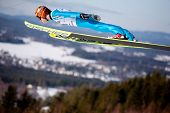 VIKERSUND, NORWAY - MARCH 15: Kalle Keituri of Finland competes in the FIS World Cup Ski Jumping Com