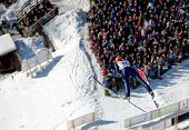 VIKERSUND, NORWAY - MARCH 15: Matti Hautamaeki of Finland competes in the FIS World Cup Ski Jumping