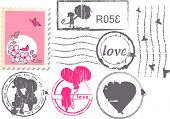 love postage set